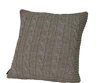 Вязаная декоративная подушка Boston Warm Gray