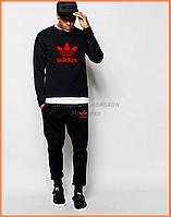 Стильный костюм Adidas с большой красивой вышивкой