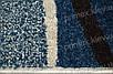Ковер Optima Waves, цвет бело-синий, фото 2