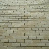Тротуарная плитка Золотой Мандарин Кирпич стандартный 200х100х60 мм горчичный на сером цементе