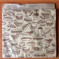 Бумажная упаковка для бургеров Эко стиль 8.45