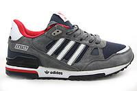 Кроссовки женские Adidas   zx 750 темно серые с красным