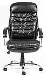 Кресло для руководителя Валенсия вуд Кожа-Люкс комбинированная, фото 3