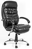 Кресло для руководителя Валенсия вуд Кожа-Люкс комбинированная, фото 2