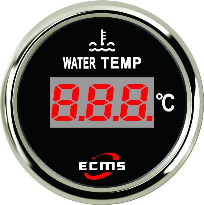 Цифровой датчик температуры воды лодочный Ecms черный