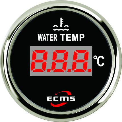 Цифровой датчик температуры воды лодочный Ecms черный, фото 2