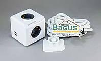 Удлинитель PowerCube 3,0 м  4 гнезда с заземлением  2 USB-порта Allocacoc 1407 DEEUPC