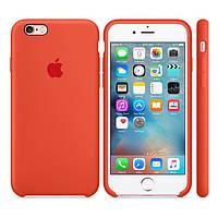 Силиконовый чехол Apple / Original Apple iPhone 6S Silicone case Orange (MKY62) Оранжевый, фото 1