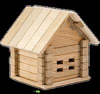 Деревянный конструктор дом-копилка для детей (37 деталей Игротеко)