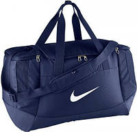 Практичная спортивная сумка NIKE CLUB TEAMSWOOSHDUFF M BA5193-410 синяя объем 52 л
