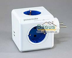 Разветвитель PowerCube  4 розетки с заземлением и 2 USB-порта Allocacoc 1202BL DEORPC