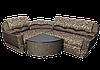 """Угловой диван """"Мадрид"""" в ткани 1 категории (ткань 14)"""