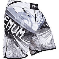 Шорты для занятий MMA Venum Galactic белый-черный