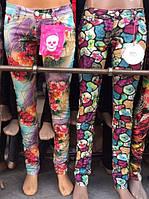 Скинни джинсы с притом Абстракция 42-48р.