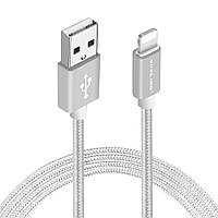 USB кабель Voxlink Apple Lightning 1м. (серебристый)