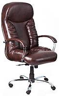 Кресло для руководителя Буфорд хром Кожа-люкс комбинированная