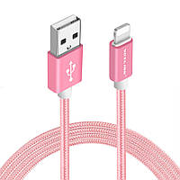 USB кабель Voxlink Apple Lightning 1м. (розовый)