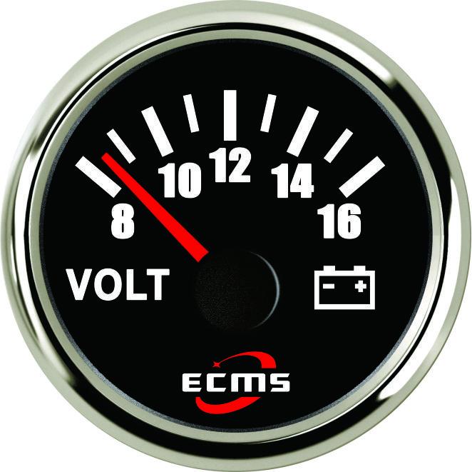 Вольтметр лодочный Ecms черный