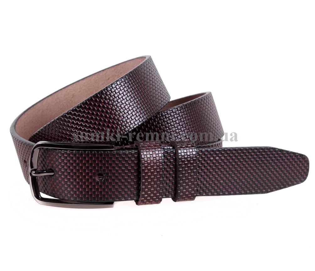 Мужской ремень из натуральной кожи под брюки MGB101-22 коричневый