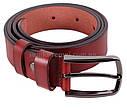 Мужской ремень из натуральной кожи под брюки MGB101-23 красный, фото 3