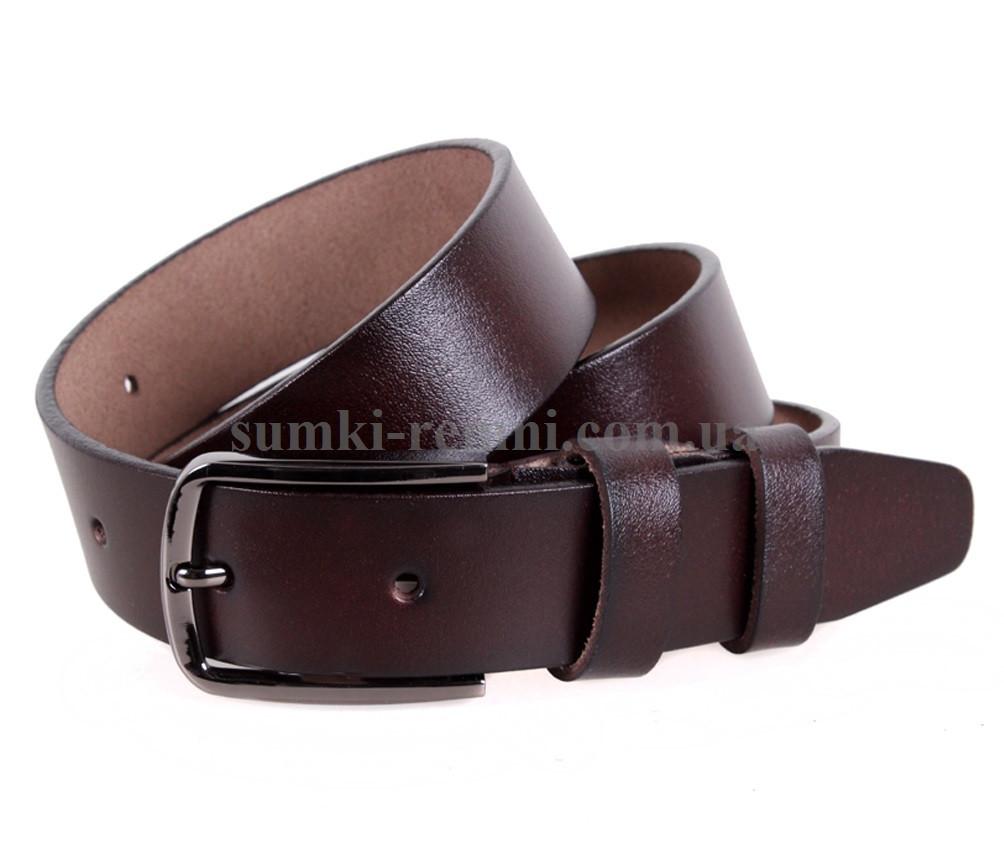 Кожаный ремень коричневого цвета Indigo Style LB
