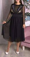 """ПП Украина Платье большого размера """"Жаклин"""", платье 48-70 размеров"""