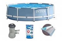 Каркасный бассейн INTEX 28212/28712 (366-76 СМ.) + ФИЛЬТРУЮЩИЙ НАСОС. ***