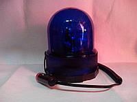 Мигалка ламповая на магните синяя 12В колба