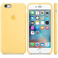 Силиконовый чехол Apple / Original Apple iPhone 6S Silicone case Yellow (MM662) Желтый, фото 1