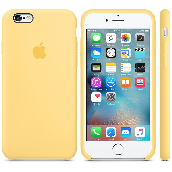 4c6898c200d76 Силиконовый чехол Apple / Original Apple iPhone 6S Silicone case Yellow  (MM662) Желтый -