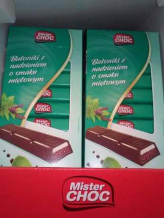 Шоколад Mister CHOC (Містер ЧОК) Німеччина 200г з м'ятою, фото 2