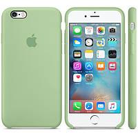Силиконовый чехол Apple / Original Apple iPhone 6S Silicone case Mint (MM672) Зеленый, фото 1