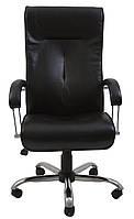 Кресло для руководителя Бостон хром Кожа-люкс комбинированная