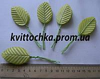 Декоративные листья на ножке цвет - салатовый