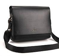 Сумка-портфель мужская качественная стильная черная для подарка