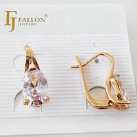 Серьги  позолоченные FJ FALLON  с английской застежкой 408