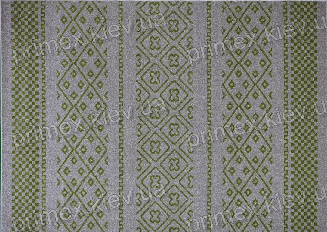 Ковер Optima Wool, цвет слоновой кости с зеленым