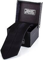 Классический шелковый галстук ETERNO (ЭТЕРНО) EG553-1 черный