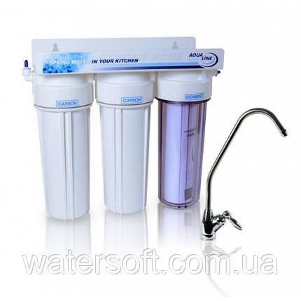 Проточний фільтр для води Aqualine MF3, фото 2