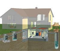 Строительство канализаций. Канализация из бетонных колец. Септик, выгребная яма.