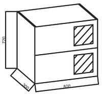 Верхние модули к кухне «Ваниль», 80ВВП