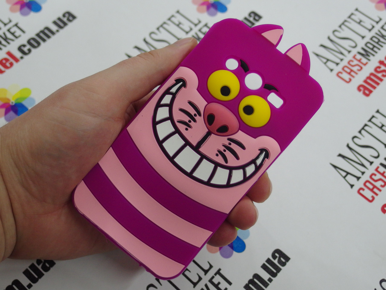 Об'ємний 3D силіконовий чохол для Samsung Galaxy Core 2 G355 Чеширський кіт