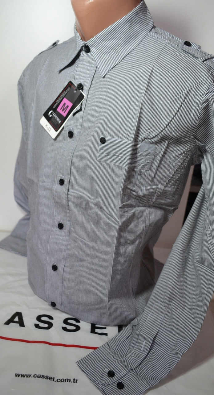Приталенная рубашка CLIMMER (размеры M,L,XL,XXL,XXXL)