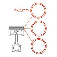 Кольца поршневые Ветерок-12 h=1.5мм