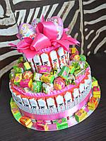 Торт из Киндер шоколадок и яиц для девочки