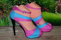 Босоножки на каблуке кожа Crisma  М46ц размер 37