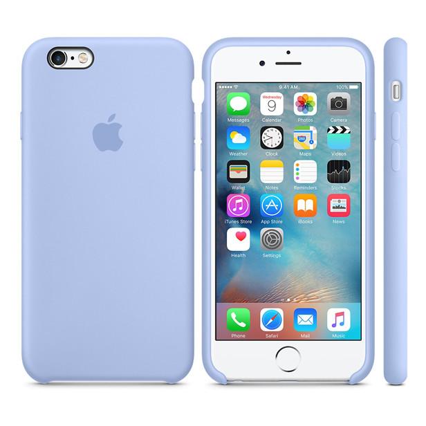 Силиконовый чехол Apple / Original Apple iPhone 6S Silicone case Lilac (MM682) Сиреневый, фото 1