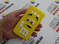 Объемный 3D силиконовый чехол для Samsung Galaxy Core 2 G355 M&M's желтый