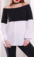 "ПП Украина Блуза, кофта с длинным рукавом ""Санпега"", блуза до 48 размера"