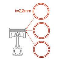 Кольца поршневые Ветерок-12 h=2.0мм